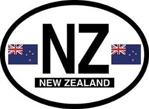 New Zealand Oval Auto Decal