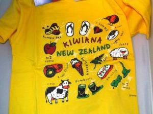 Kiwiana Yellow T-Shirt
