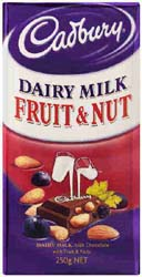 Cadbury Dairy Milk Fruit and Nut BLOCK