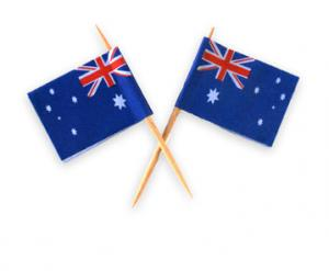 Aussie Flag Cocktail Sticks