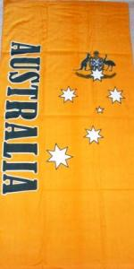 AUS Green & Gold Beach Towel