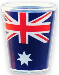 Australian Flag Shot Glass