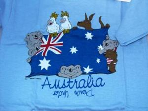 Animals W/Flag Down Under T-Shirt