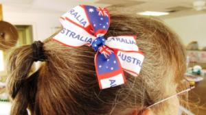 Aussie Flag Hair Bow