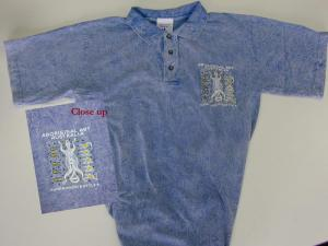 Aussie Aboriginal Blue Golf Shirt