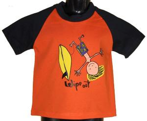 Wipeout Orange and Black Kids T-Shirt