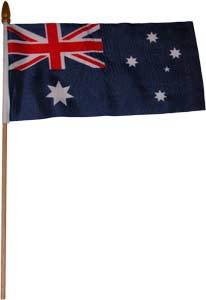 Australian Flag On-A-Stick