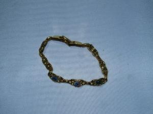 Gold Plated Bracelet W/3 Opals